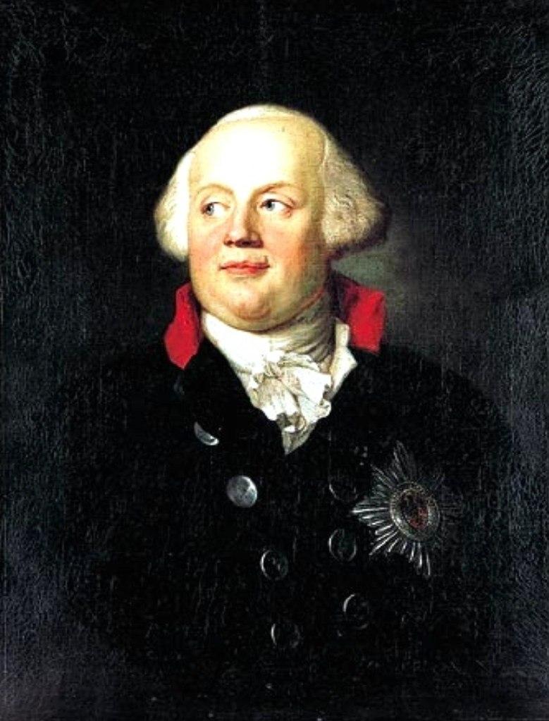 Фридрих Вильгельм II (1744 — 1797) — 4-й король Пруссии  с 1786 года. Сын Августа Вильгельма и Луизы Амалии  Брауншвейг-Вольфенбюттельской, племянник Фридриха II Великого. ЗАКАЗЧИК БРАНДЕНБУРГСКИХ ВОРОТ...