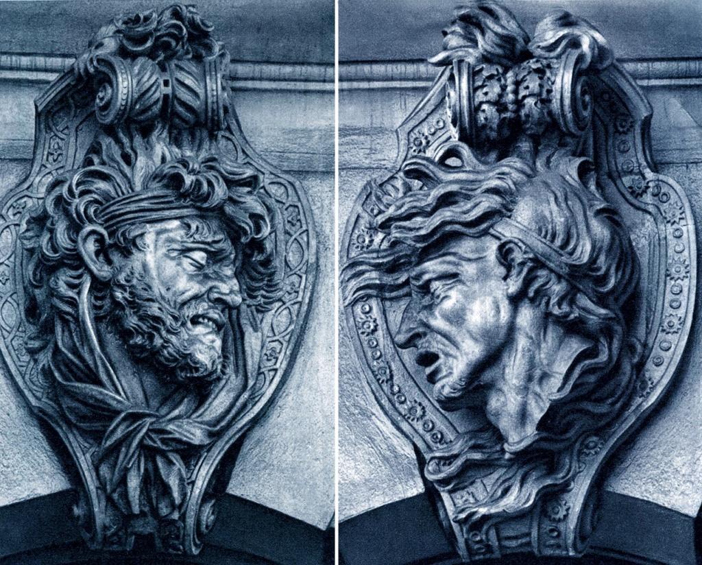 Берлин. Здание арсенала – Цейхгауза. Маски воинов. Декоративная отделка - арх Шлютер. 1695 - 1706