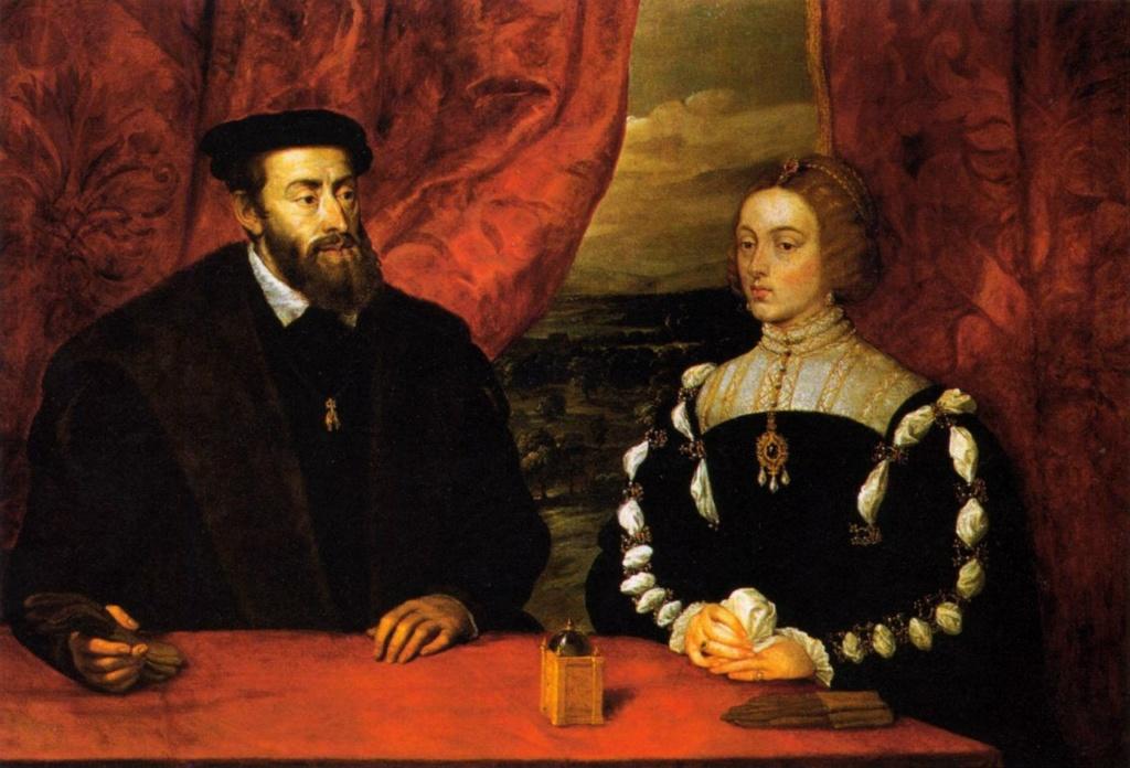 Император Священной Римской империи Карл V с супругой Изабеллой Португальской, приходившейся ему двоюродной сестрой (их матери Хуана и Мария были сестрами). Как мог?! Это был брак по высокой обоюдной любви...