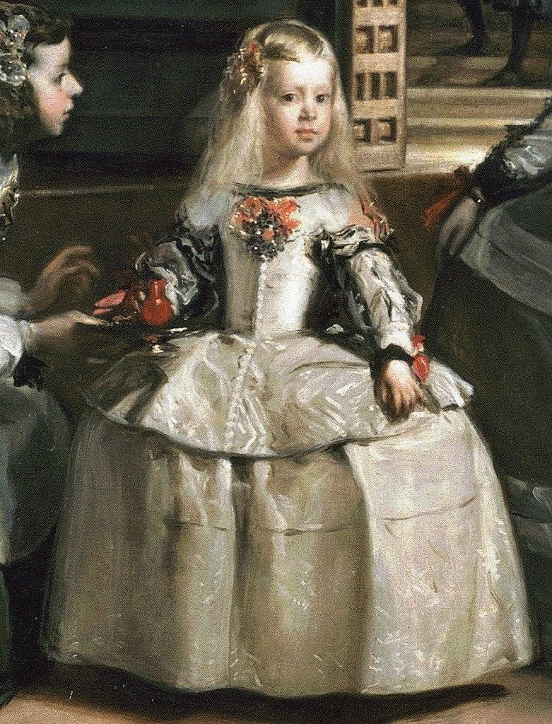 """Диего Веласкес. """"Менины"""" (Фрейлины), 1656 Фрагмент - инфанта Маргарита.в центре первого светлого круга, в который входят те, кто заботится о ней, и кого она любит...."""
