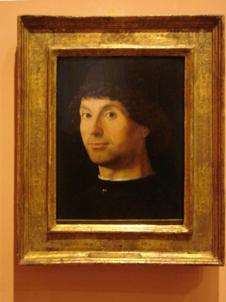 Антонелло да Мессина (1430-1479). Мужской портрет.