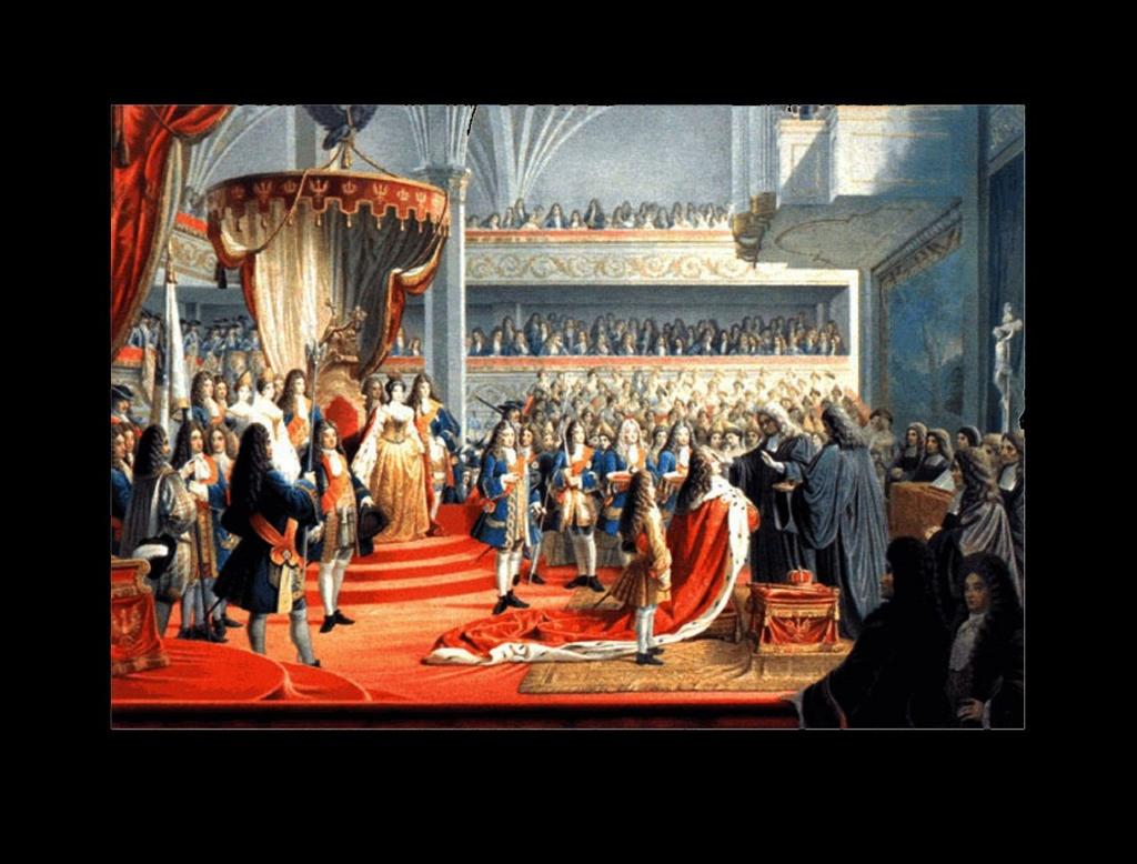 """Коронация Фридриха I в """"Московской зале"""" Кёнигсбергского замка, 1701 год. Кенисберг (нынешний Калининград) - город, в котором возникло королевство Пруссия, будто по удару волшебной палочки, что захотела поиграть на барабане..."""
