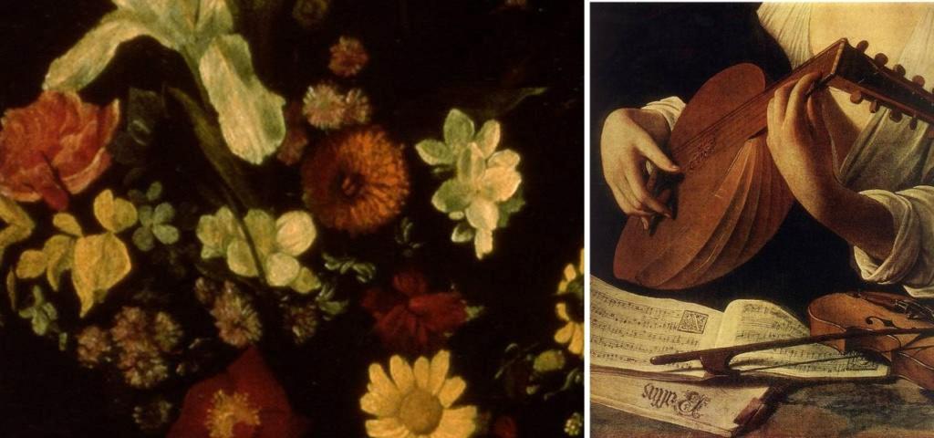 """Караваджо.""""Лютнист"""". 1595. Эрмитаж. Санкт-Петербург. Фрагменты переднего плана..."""
