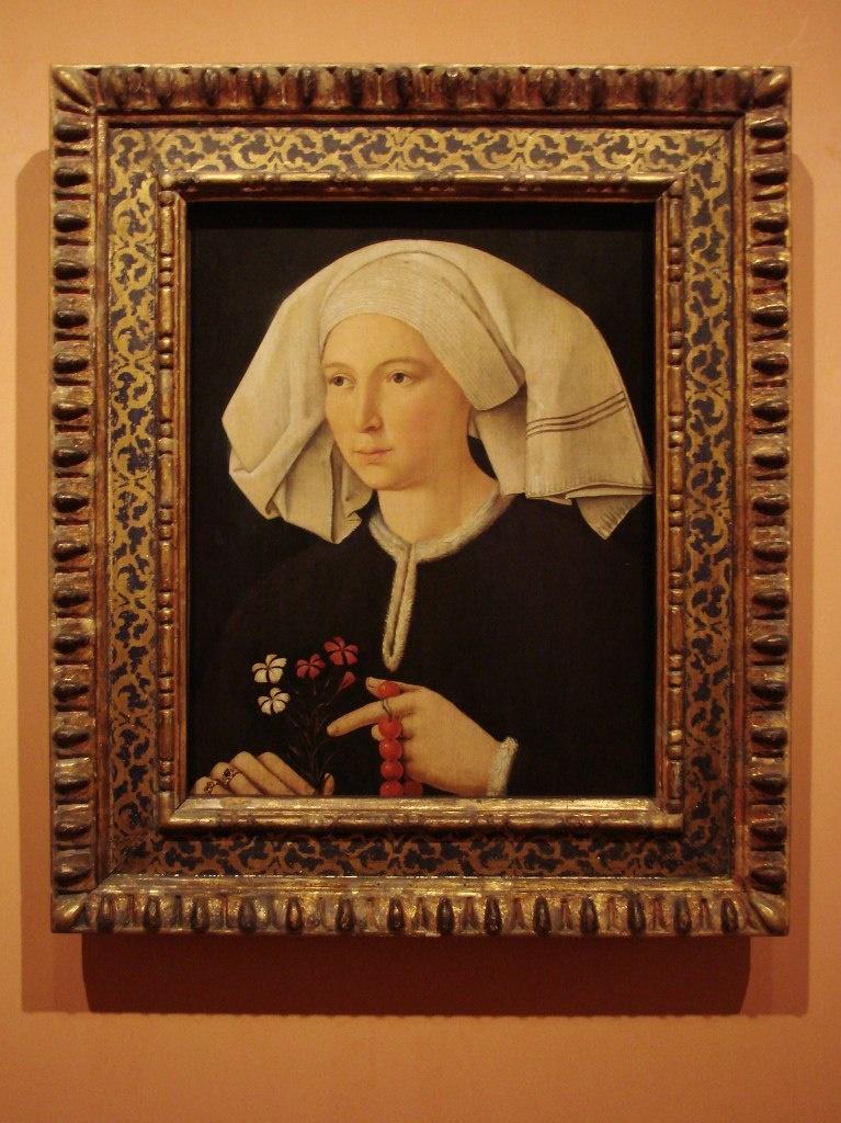 Anonymous German Artist active in Swabia ca1480, Портрет женщины, ок 1480, 50,4 cm x 39,2 cm, Дерево, масло