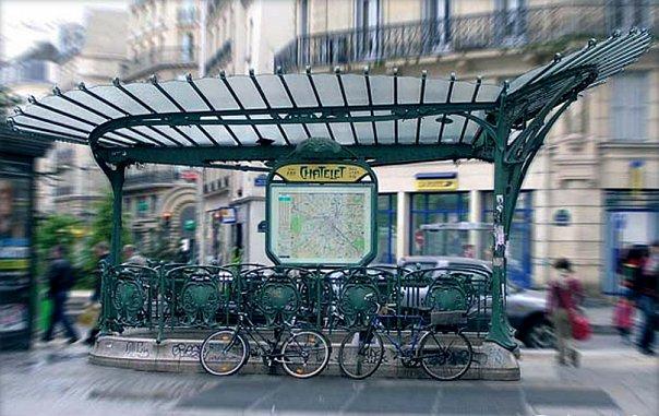 Париж. Наземные станции метро. Арх. Эктор Гимар. 1900 годы