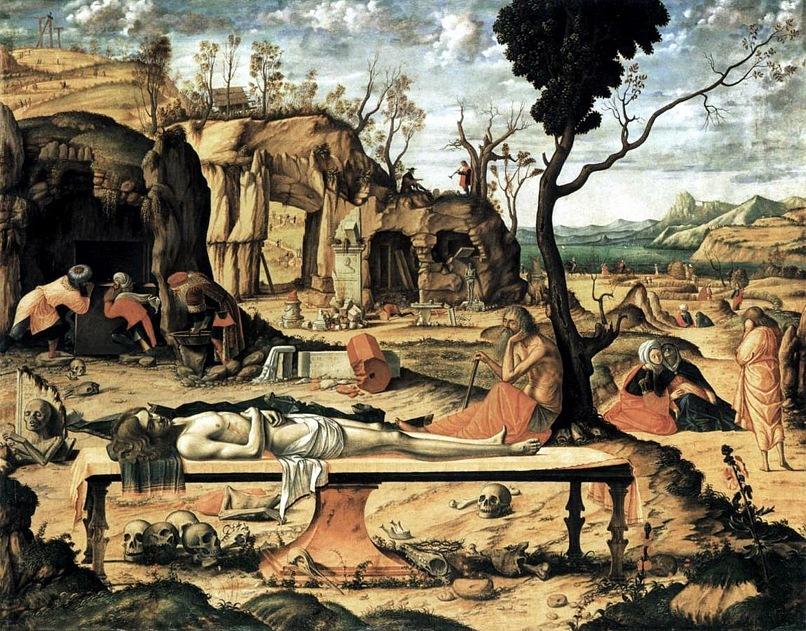 "Витторе Карпаччо. ""Оплакивание Христа"". 1490"
