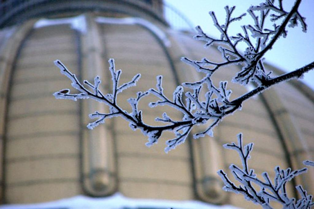 Исаакиевский собор. Арх. О. Монферран. 1818-1858. Вид на купол богатырский - золотой.