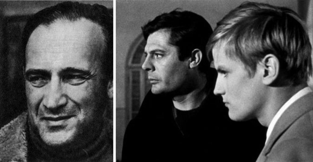 """Портрет Валерио Дзурлини (1908 - 1988) Кадр из фильма """"Семейная хроника"""", снятого в 1962 году. Старший брат - Марчелло Мастрояни, младший - Жак Перрен."""