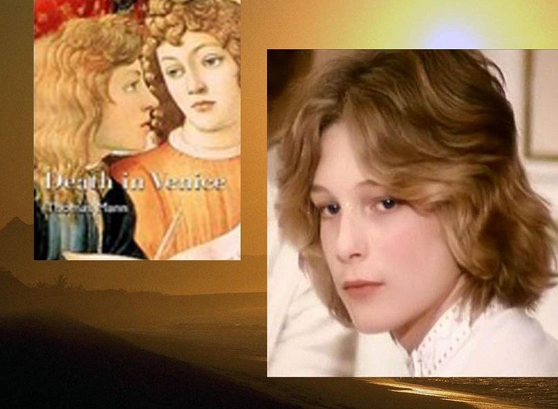 """После фильма Висконти """"Смерть в Венеции"""" в красоте Тадзио стали видеть лико Ангела из картины Андреа Вероккио """"Крещение Христа"""". Того самого Ангела, который был написан учеником мастера - еще юным Леонардо да Винчи."""