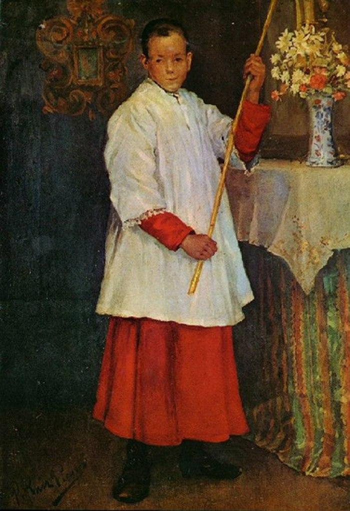 """Пабло Пикассо. """"Мальчик из хора"""". 1896."""