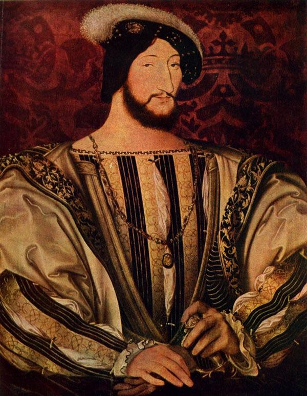 Портрет Франциска I. Художник Жан Клуэ. 1525 год. Лувр. При Францискe I (1515-1547) Лувр стал официальной королевской резиденцией, в которой начала формироваться систематизированная коллекция произведений искусств.