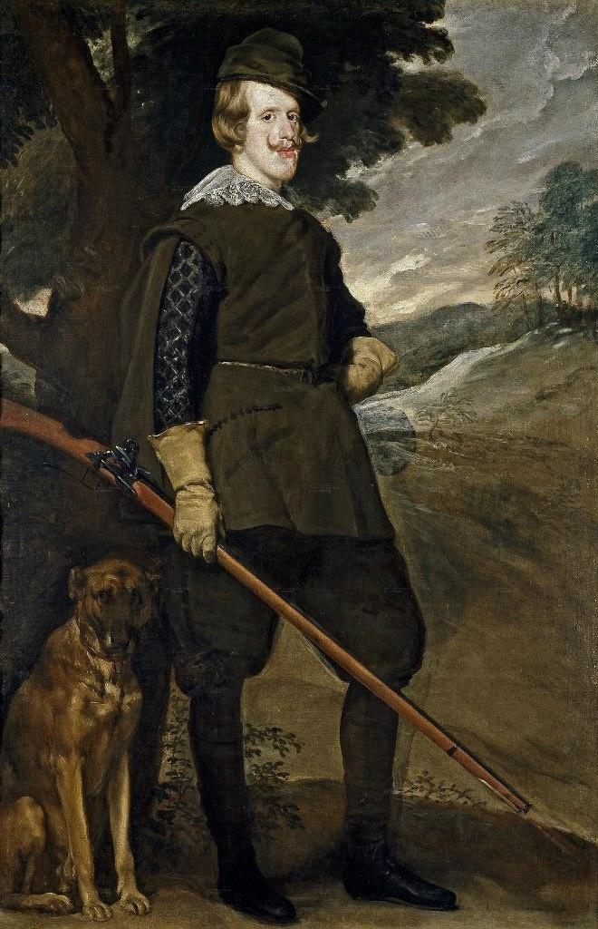 Диего Веласкес. Портрет короля Филиппа IV в охотничьем костюме, в котором, не зная, трудно увидеть короля Испании....