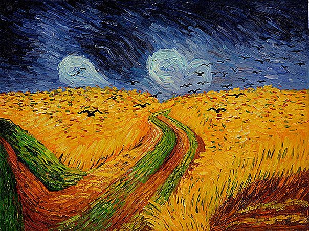 Винсент ван Гог. Пшеничное поле под грозовым небом. 1890