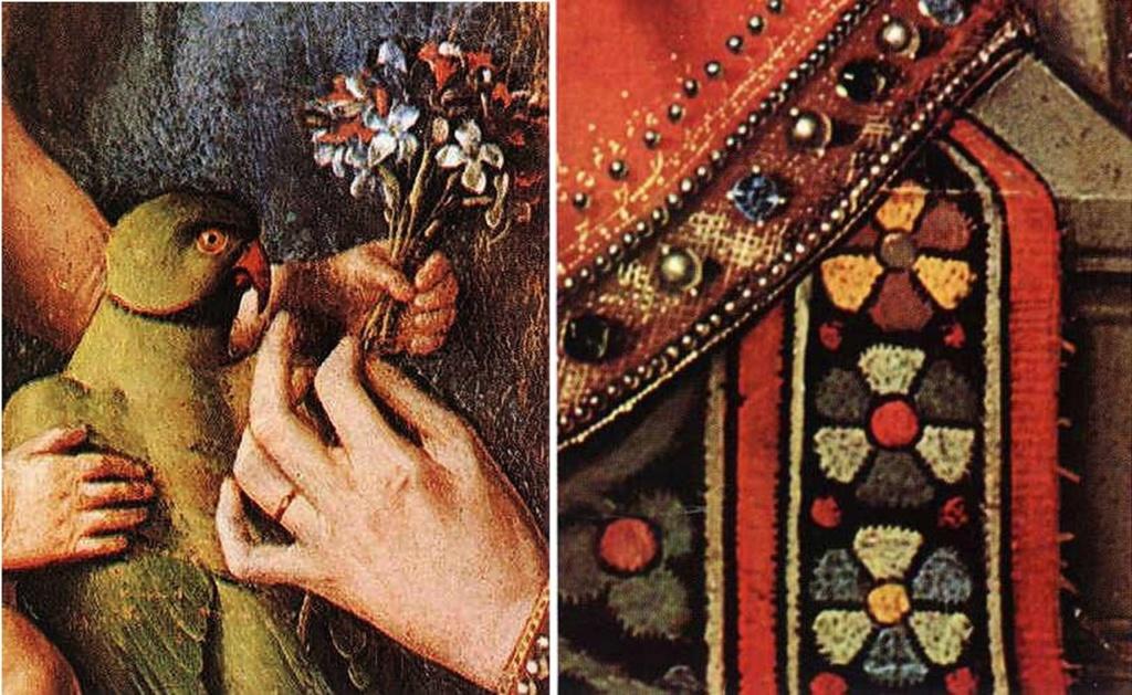 Ян ван Эйк. «Мадонна каноника ван дер Пале». 1436.  Муниципальная художественная галерея, Брюгге.