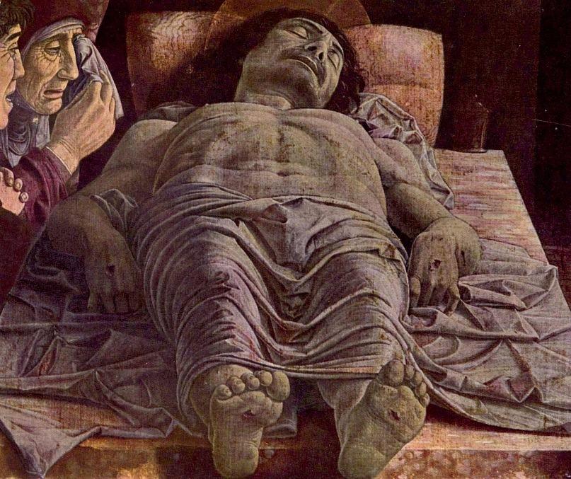 "Андреа Мантенья. ""Оплакивание Христа"". 1490"