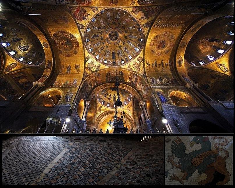"""Кафедральный собор Венеции - св. Марка: во всей """"громоздкой пышности восточного храма"""". Храм городу чужой? Во всем абсолютно свой."""