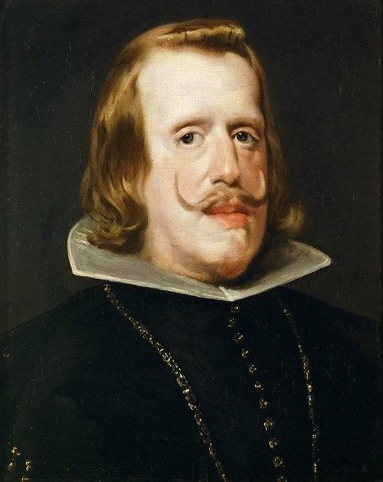 Диего Веласкес. Один из последних портретов Филиппа IV. 1655-1656 (монарх скончался в 1665 году в Мадриде, погребен в королевском пантеоне в Эскориале, пережив Веласкеса на 5 лет).