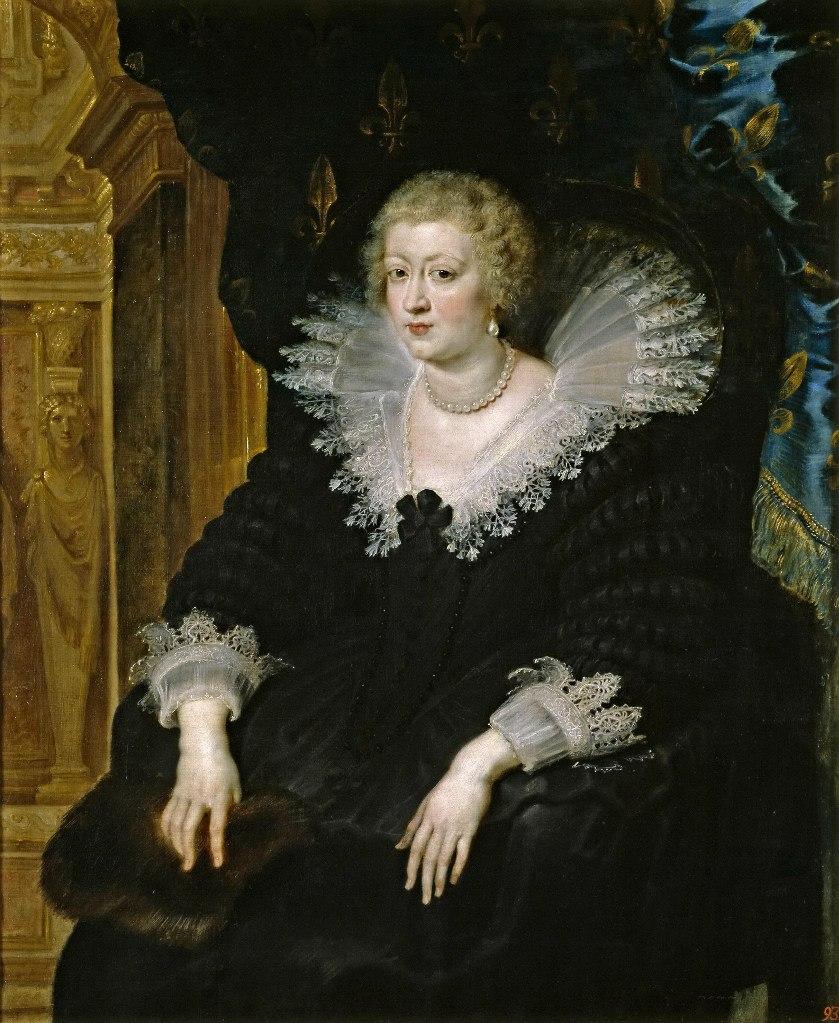 Питер Пауль Рубенс Портрет Анны Австрийской, королевы Франции. 1645. Прадо, Мадрид. Анна Австрийская (1601 - 1666) - испанская инфанта, дочь короля Филиппа III, сестра короля Филиппа IV. В 1615 году вышла замуж за французского короля Людовика XIII.