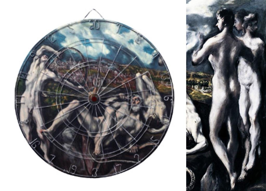 """Эль Греко. «Лаокоон» 1610 - 1614 Слева - геометрический анализ композиции главного действа. Справа стоят """"сторонние наблюдатели-зачинщики""""..."""