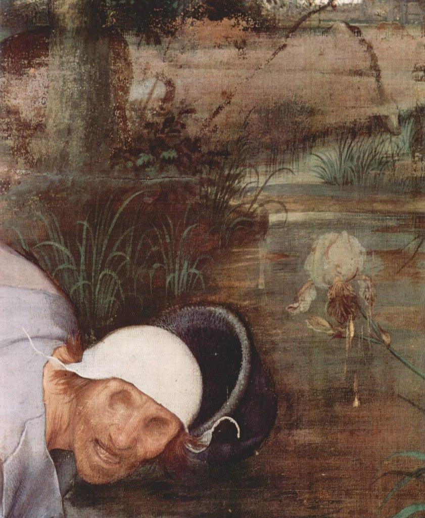 """Питер Брейгель Старший. """"Слепые"""".1568. Фрагмент картины, с изображением бездны (?!),  в которую людей увлекает их собственная глупость."""