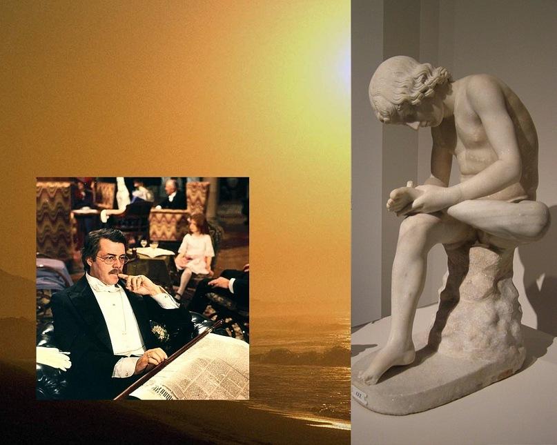 «Мальчик, вынимающий занозу». Пифагор Регийский (480—450 гг. до н. э.) Скульптура известна в римской копии I в. с греческого раннеклассического оригинала. Широко распространены мраморные копии.
