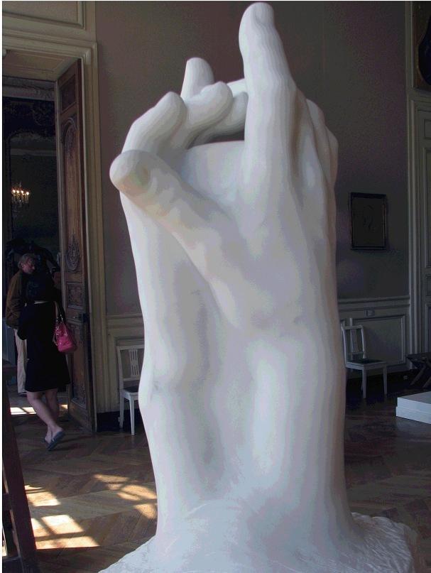 """Музей Огюста Родена в старинном особняке. Знаменитые """"Руки"""". Эта композиция - """"Тайна"""" - """"составлена из двух правых рук, что позволяет избежать соприкосновения одноименных пальцев"""" - пишет поэт Рильке."""