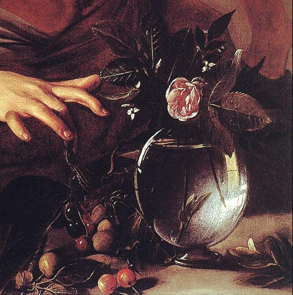 """Караваджо. """"Мальчик, укушенный ящерицей"""". 1594-1595.  Фрагмент переднего плана."""