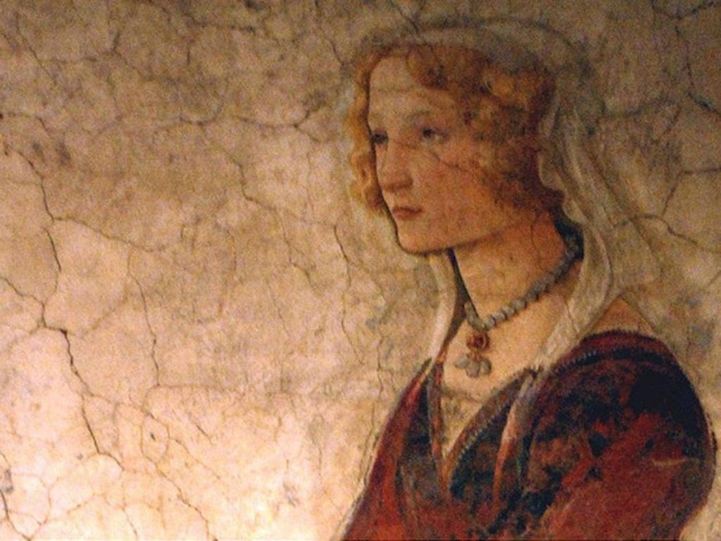 """САНДРО БОТТИЧЕЛЛИ. """"Молодая женщина получает дары от Венеры и трех Граций"""". Флоренция, ок. 1445-1510 годов. Фрагмент - молодая женщина... За что получает дар от Граций? По-видимому, за грациозность..."""