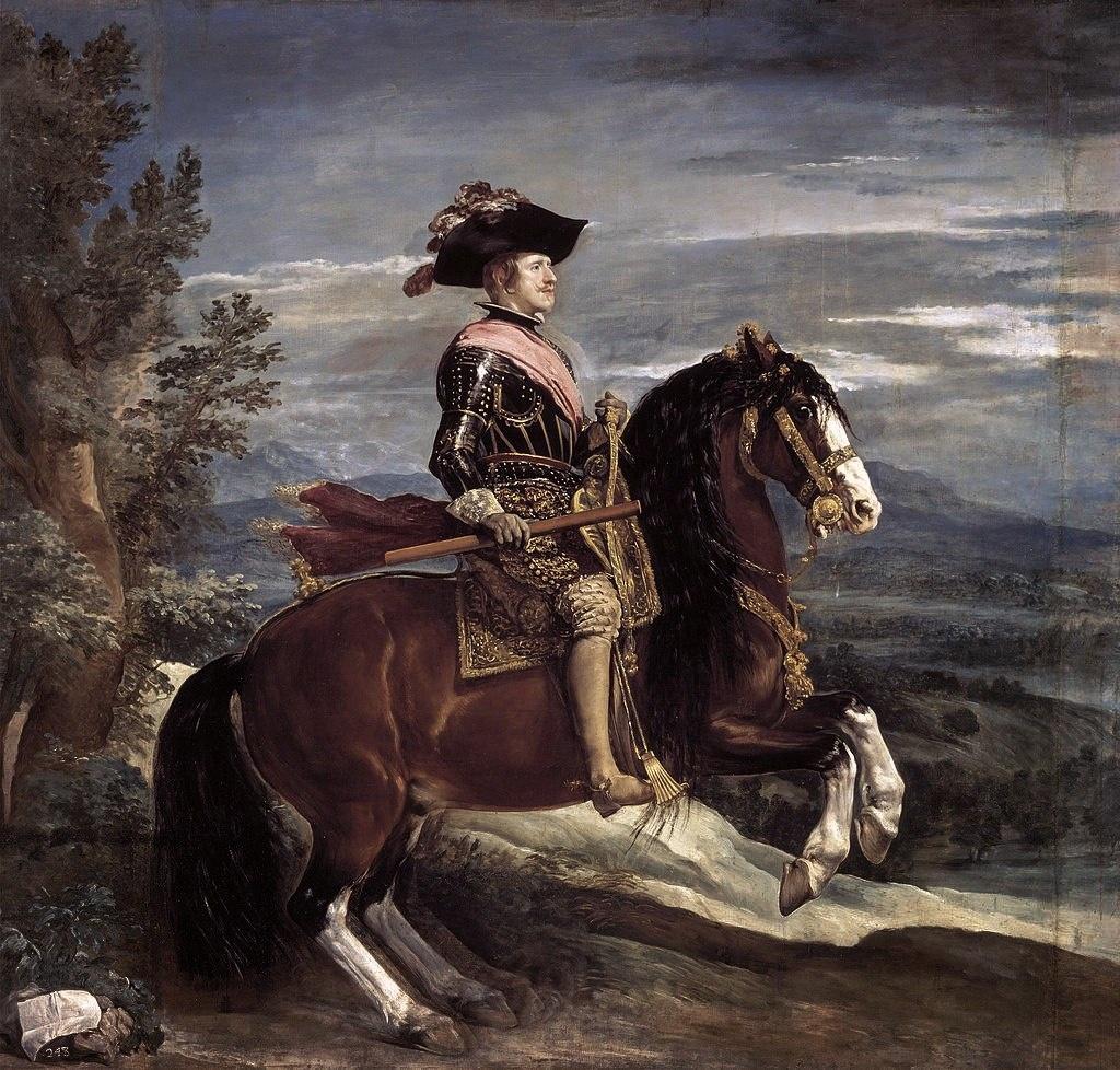Диего Веласкес. Конный портрет Филиппа IV. 1634-1635.