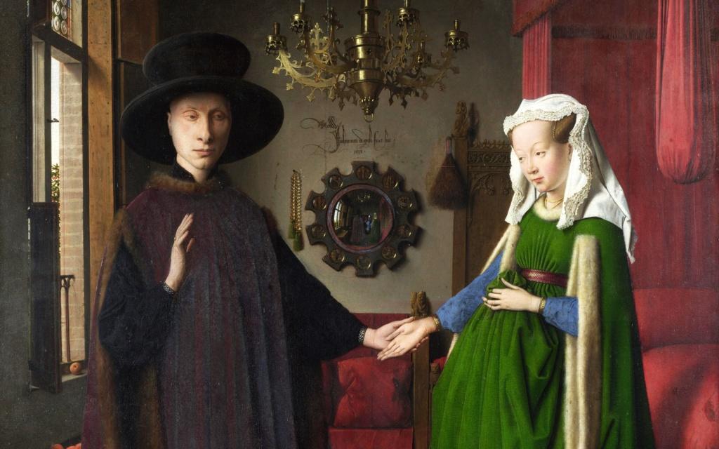 """Ян ван Эйк - """"Портрет четы Арнольфини"""", 1434.  Национальная галерея, Лондон."""