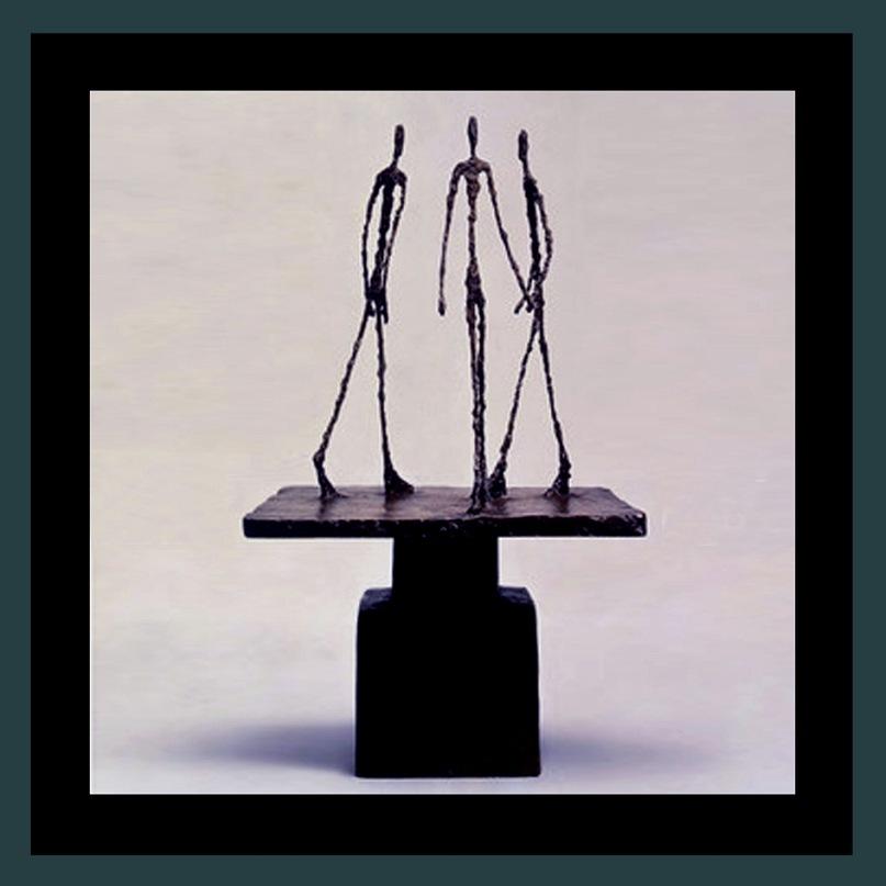 """Экспонаты выставки-ярмарки """"Арт-Базель - 2010"""". Работа Альберто Джакометти - швейцарского скульптора, живописца и графика - """"Три шагающих человека I"""". 1948-1950м"""