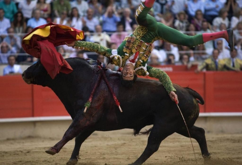 Коррида в столице Испании - Мадриде.