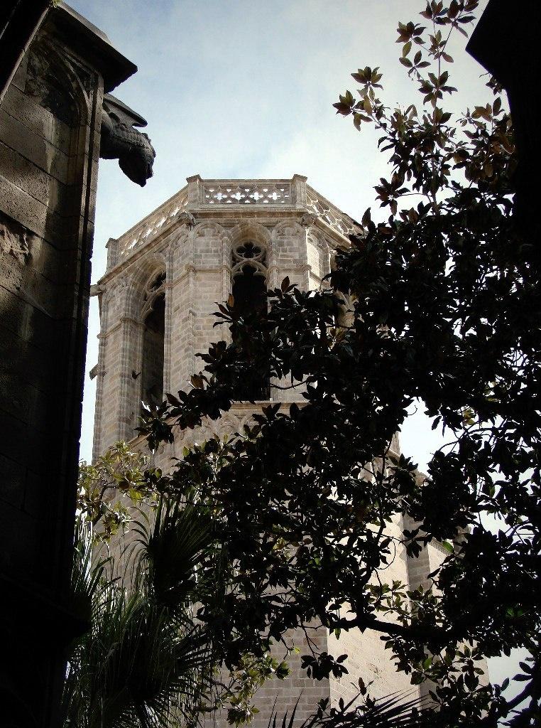 """Клуатр в Кафедральном соборе Барселоны очень романтичен - заставляет вспоминать о том, что жизнь есть страдание,. Цитирую """"Житие святой Евлалии""""..."""