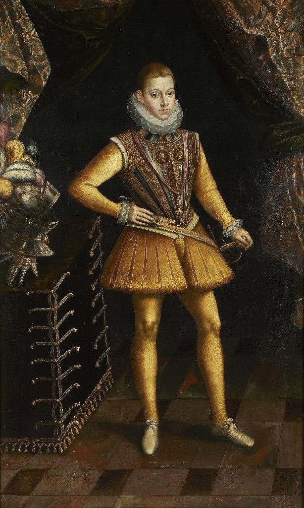 Фили́пп III ( 1578 — 1621) — король Испании, Португалии и Алгарве . Сын и преемник Филиппа II, первый из неспособных королей, доведших Испанию до крайнего внутреннего упадка и внешнего политического бессилия.