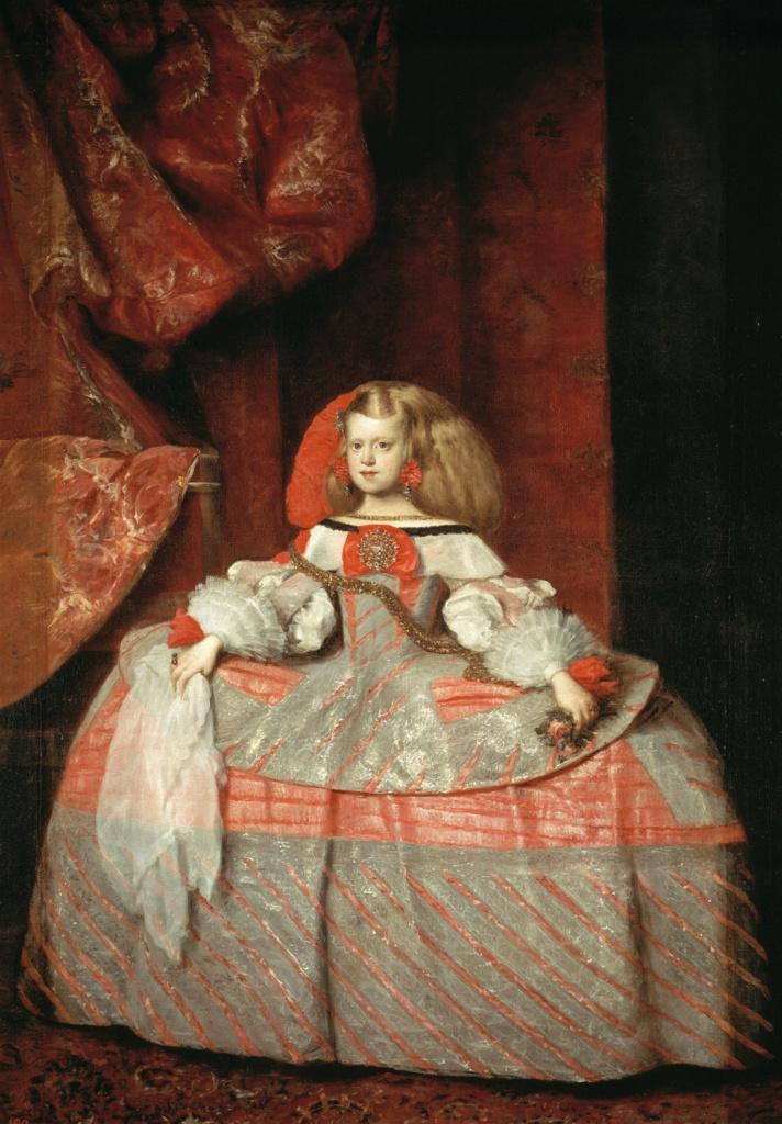 Диего Веласкес. Инфанта Маргарита в розовом, 1660, Прадо, Мадрид Картину художник начал писать в год своей кончины.