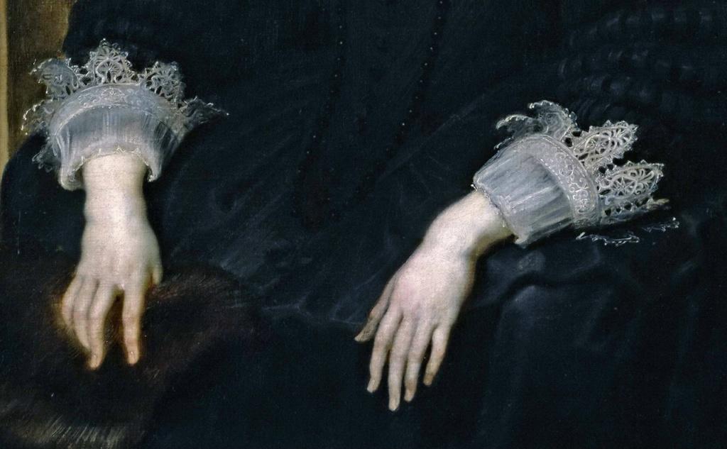Питер Пауль Рубенс Портрет Анны Австрийской, королевы Франции. 1645. Прадо, Мадрид. Это - руки безвольной женщины? Нет, пожалуй, это - руки женщины печальной...