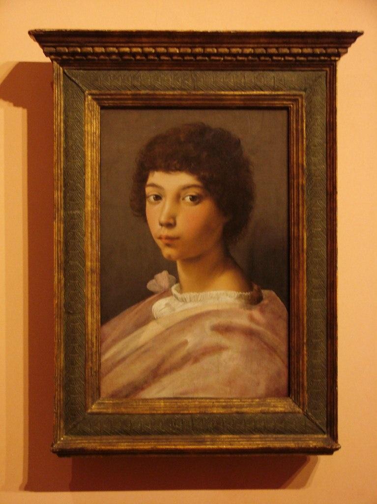 """Рафаэль Санти. Портрет мальчика. 1518-19 годы. Настоящий портрет эпохи """"Кватроченто"""", хотя его время и прошло и Рафаэль принадлежит к эпохе """"Высокого возрождения"""" - """"Чинквеченто"""", что значит XVI век."""