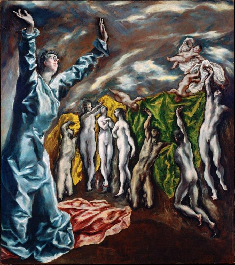 Теме «Апокалипсиса» посвящена самая необычная картина «Снятие пятой печати» (1610-1611, Метрополитен-музей, Нью-Йорк) с ее резким искажением фигур, тревожным движением света, звучностью красок, превосходящих предел масляной живописи.