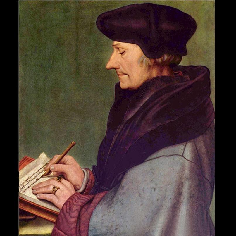 Ганс Гольбейн Младший. Портрет Эразма Роттердамского. 1523
