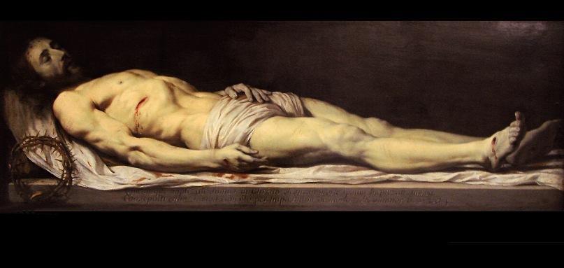 """Филипп де Шампень. """"Мертвый Христос, лежащий на своём саване"""".  До 1654 года. Лувр"""