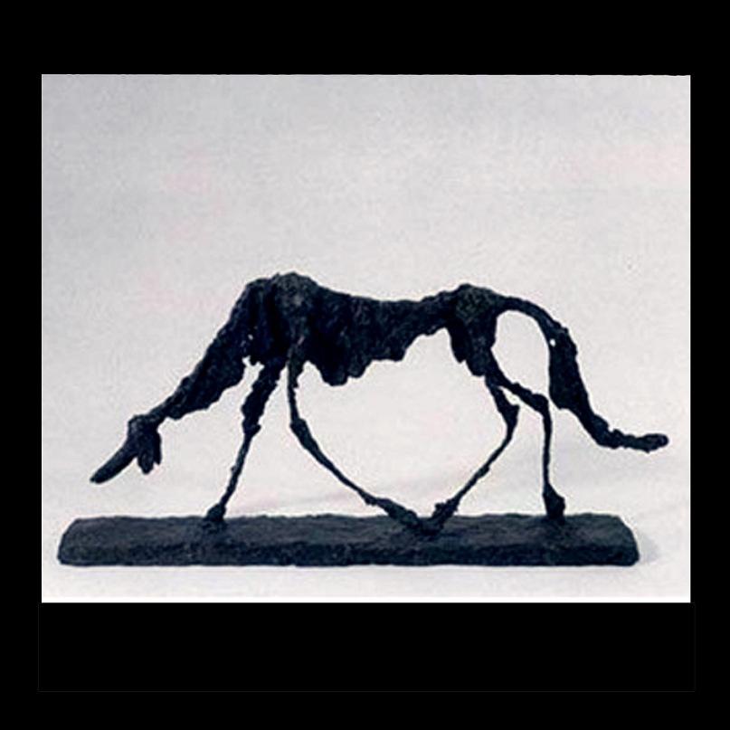 """Выставка работ Джакометти в Эрмитаже была открыта в 2008 году при содействии Фонда Джакометти, Художественного музея Базеля и Фонда Бойелера. Одна из его """"исчезающих скульптур"""" - """"Собака"""""""