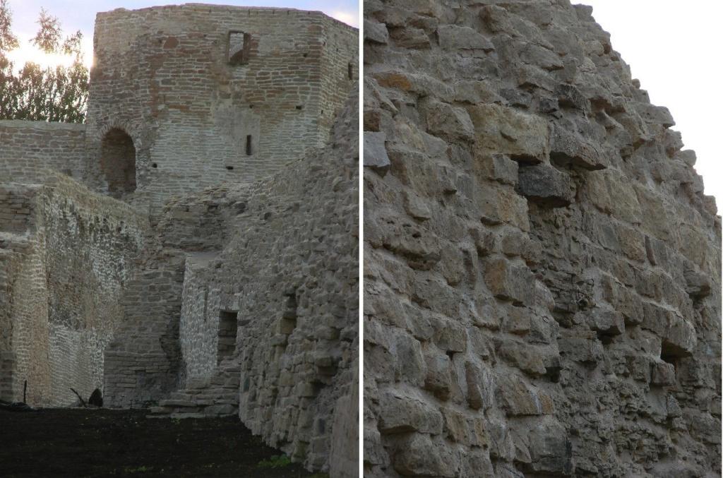 В начале XVI века были дополнительно утолщены стены. В результате их ширина возросла в среднем с 2,5 м до 3,7 м (по бокам) и даже до 5 м на «приступнай» стороне.
