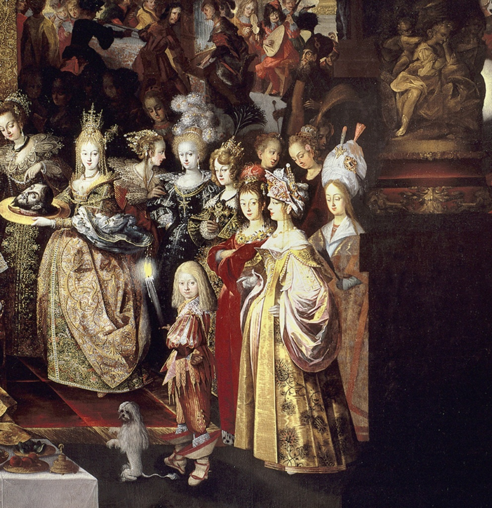 """Стробель Бартоломеус II. """"Усекновение главы св. Иоанна Крестителя и пир Ирода"""". Второй фрагмент картины.."""