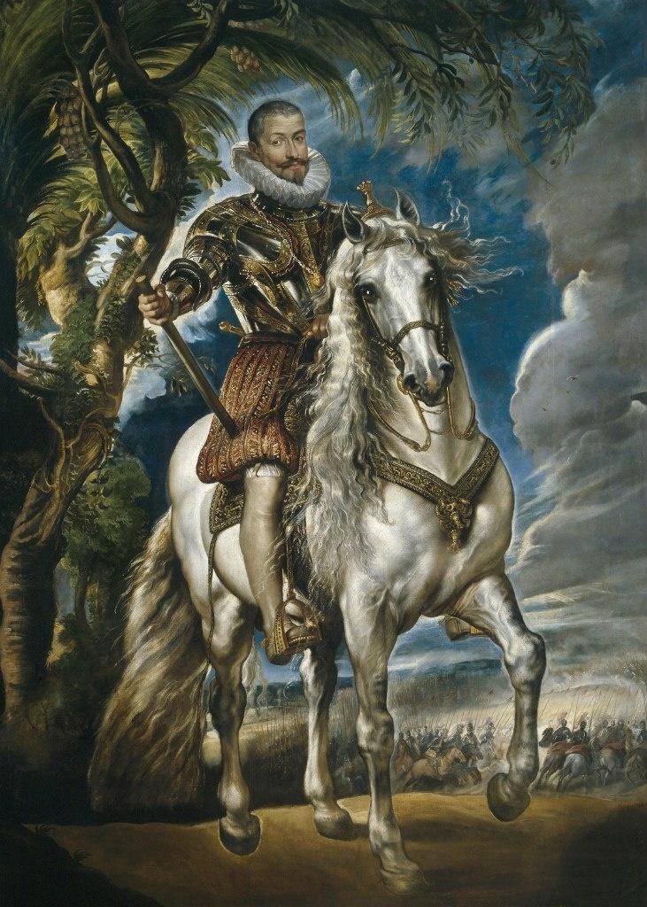 Питер Пауль Рубенс. Конный портрет герцога Лермы.