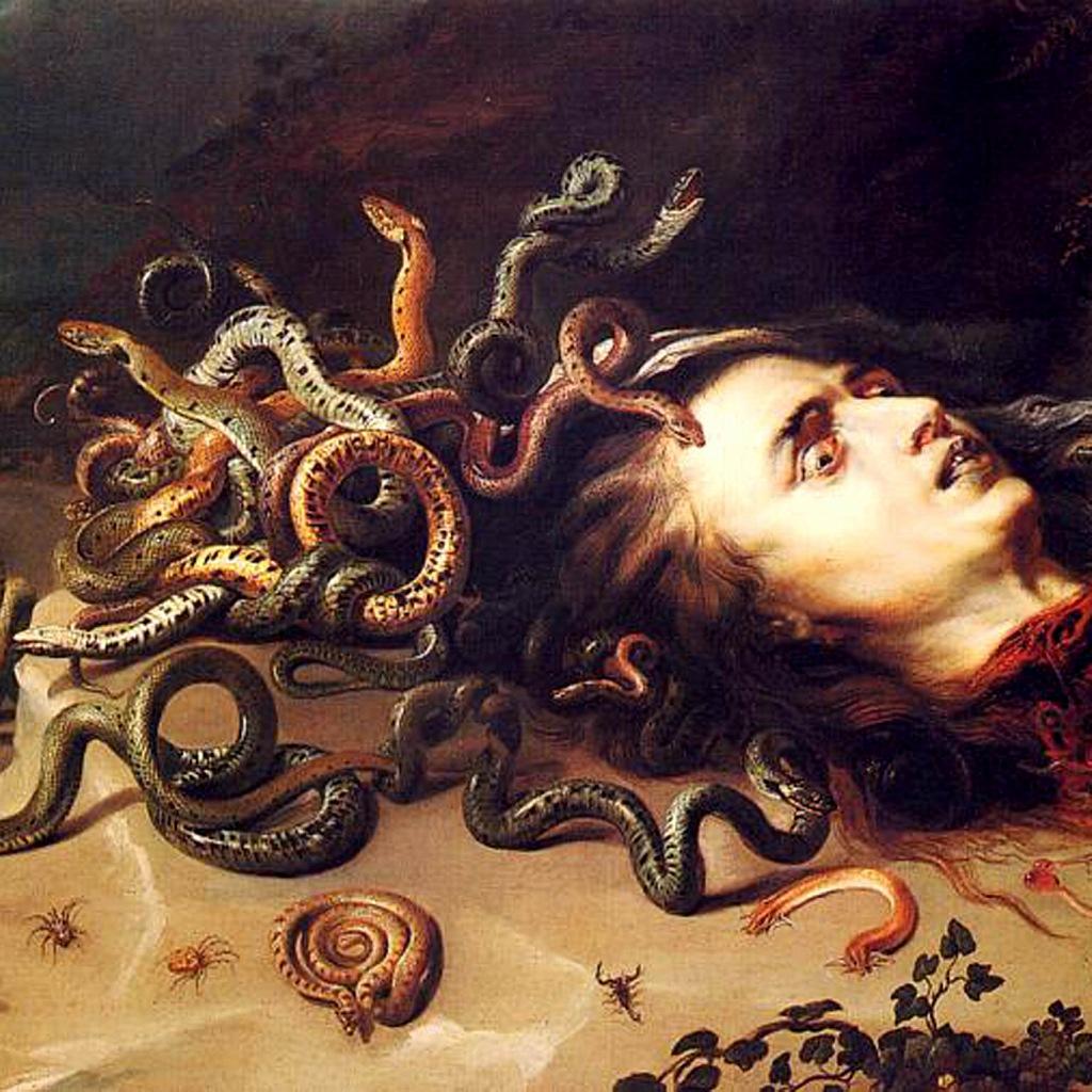 """Питер Пауль Рубенс. """"Голова Медузы"""" (фрагмент). 1617"""