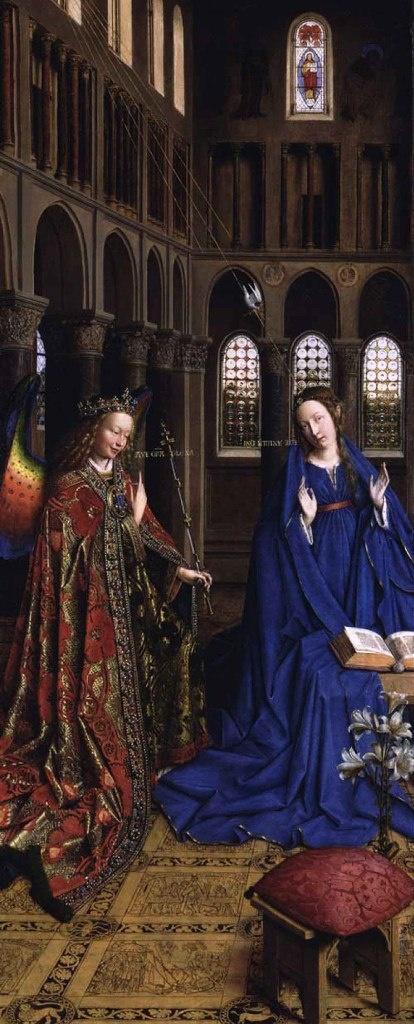 """Ян ван Эйк - """"Благовещение"""", около 1434–1436. Национальная галерея. Вашингтон."""