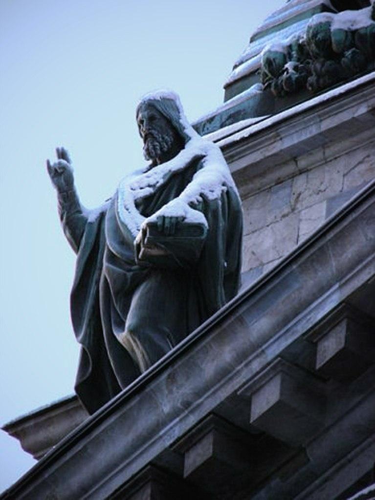 Исаакиевский собор. Арх. О. Монферран. 1818-1858. Фигура Иоанна Крестителя. Внешнее оформление - ск.: И. П. Витали, И. Герман.