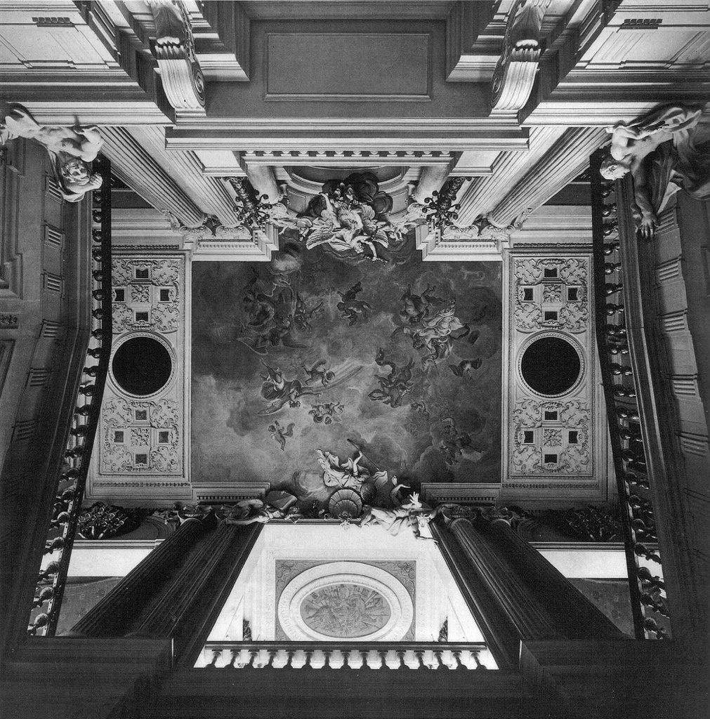 Берлинский Городской дворец. Парадная лестница. Архитектор Андреас Шлютер. Проект 1706 года.