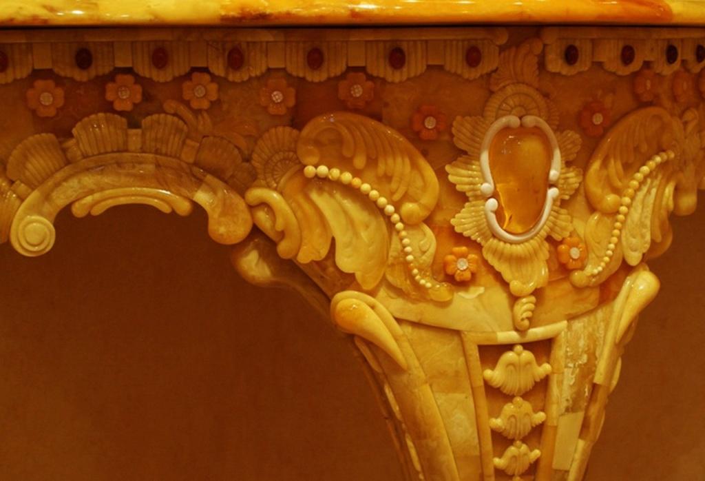 Янтарная комната. Фрагменты. Детали консольного столика. Потрясающие...