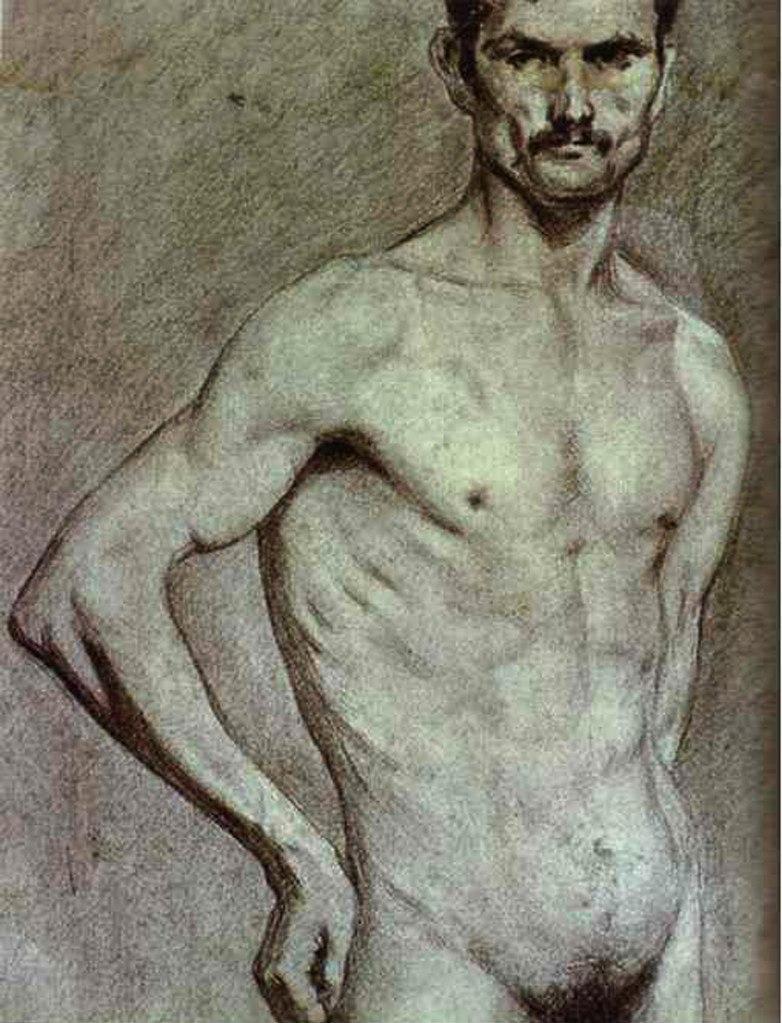 Пабло Пикассо. Матадор Луис Мигель Доминген. 1897. Похоже, что это - последняя учебная работа, выполненная в Мадридской академии искусств.
